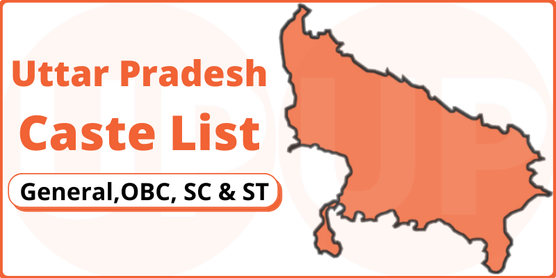 Uttar Pradesh Caste List General OBC SC & ST in PDF