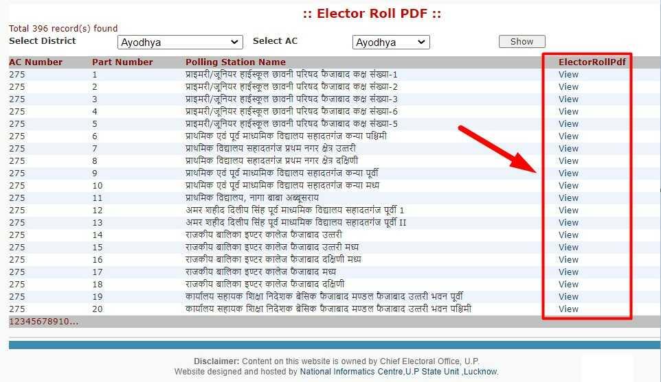 UP Voter List PDF Download Online from ceouttarpradesh.nic.in