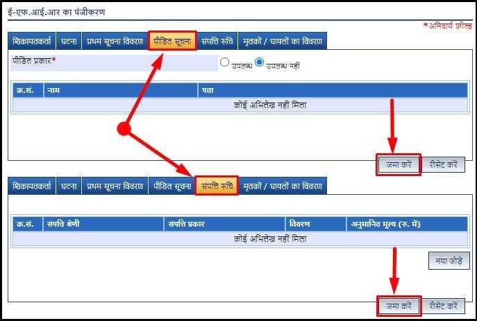 Other Details for Online FIR Complaint on UPPolice.gov.in Portal