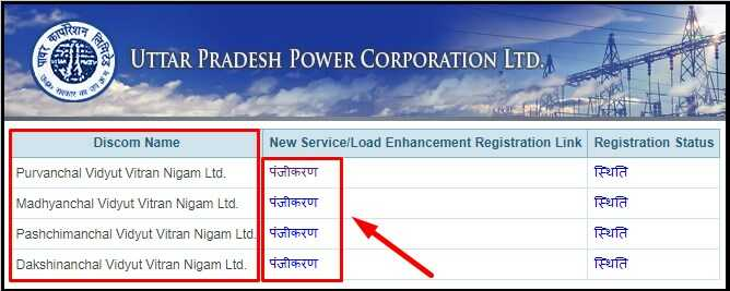 UP New Electricity Connection Provider Company Name and List